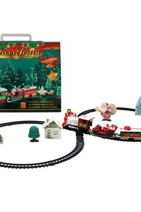 Train Set for Kids, Train Set with Lights and Sounds for Under , Electric Toy Train with Railway Tracks for Kids, Gift for Boys and Girls
