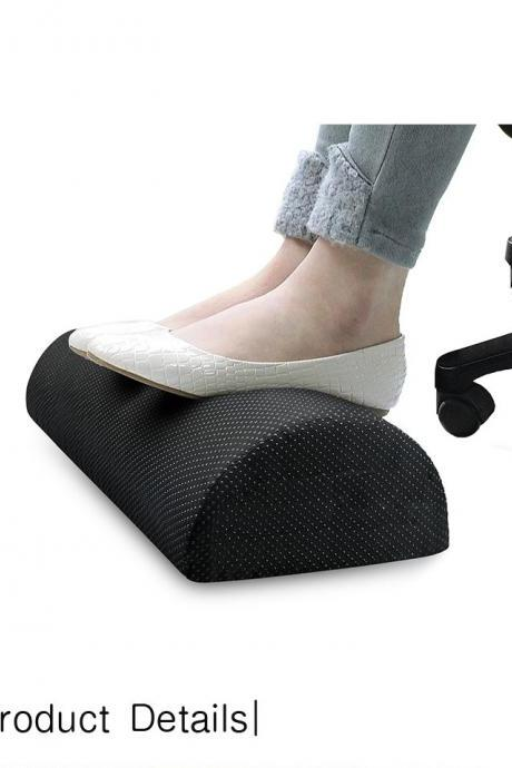 Foot Rest Under Desk Cushion - Teardrop Curve Design - Ergonomic Pad for Extra Leg Support - Breathable Mesh Cover - Non-Slip Bottom - Foot Stool for Home and Office