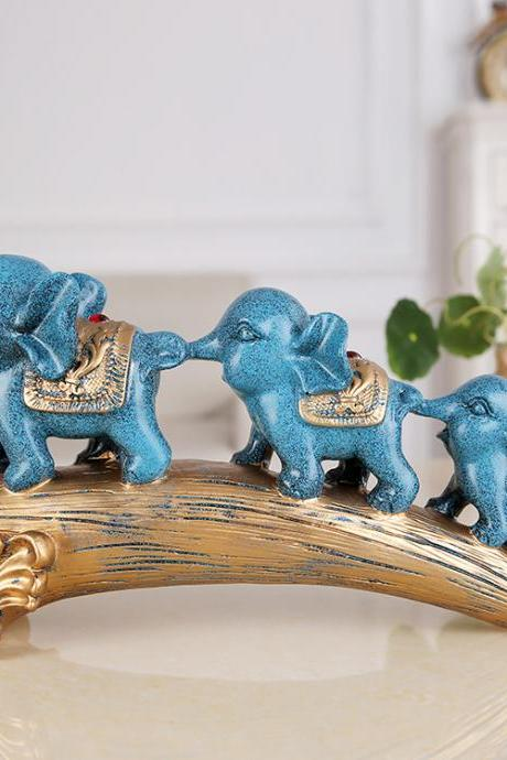 Resin Crafts Home Decoration Retro Elephant Ornaments New House Gifts