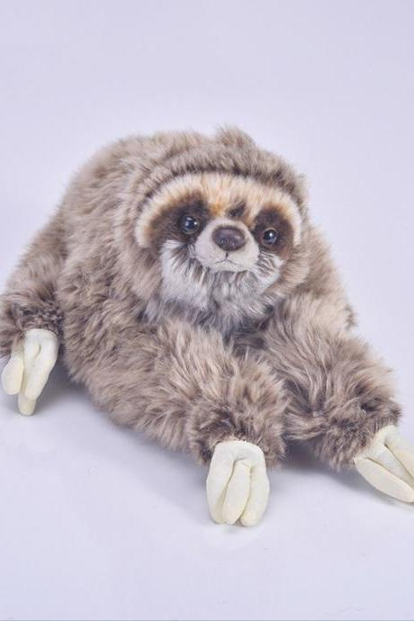 Three Toed Sloth Stuffed Animal – Super Realistic Floppy Large Plush Toy for Boys, Girls and Adults – Measures 14 inches / 35 cm