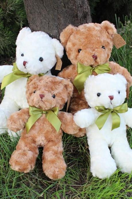 Teddy Bear Plush - Cute Teddy Bears Stuffed Animals in 2 Colors- 2-Pack of Stuffed Bears - 11 Inch Height