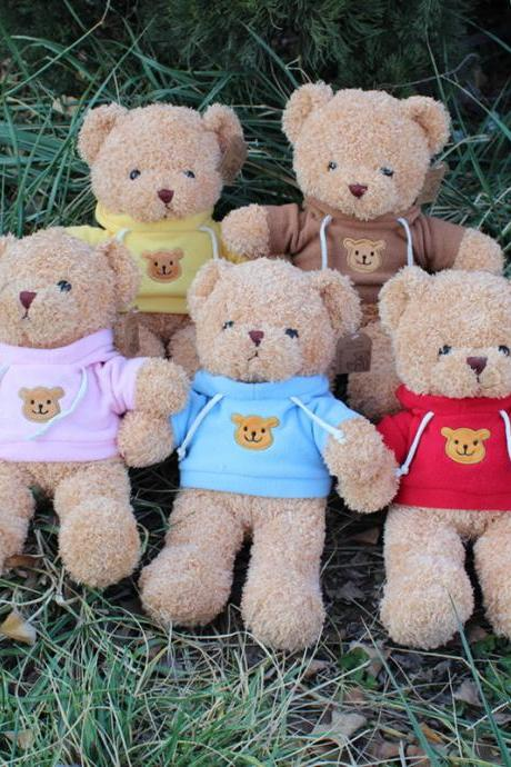 Teddy Bear Plush - Cute Teddy Bears Stuffed Animals in 5 Colors - 5-Pack of Stuffed Bears - 11 Inch Height