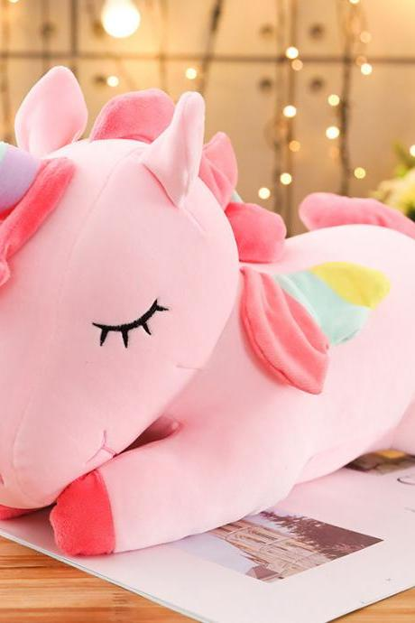 Unicorn Stuffed Animal Plush Toy, 31.5 Inch Cute Soft Unicorn Plush Stuffed Animal Toy Doll, Gift for Kids Birthday