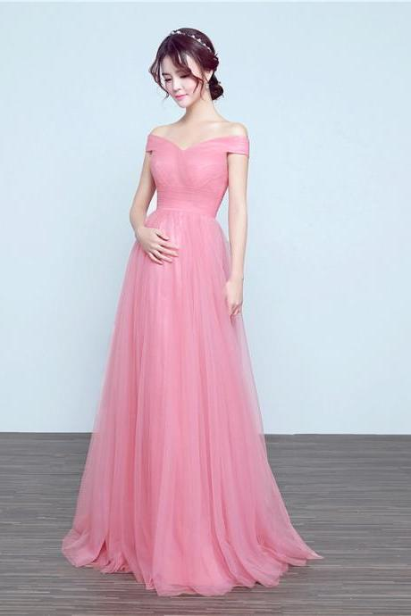 Bride's shoulder long red evening gown prom party dress Maternity dress