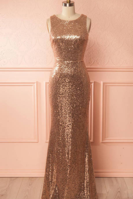 Gold sequin bridesmaid dresses, Mermaid bridesmaid dresses, long bridesmaid dresses, cheap bridesmaid dresses