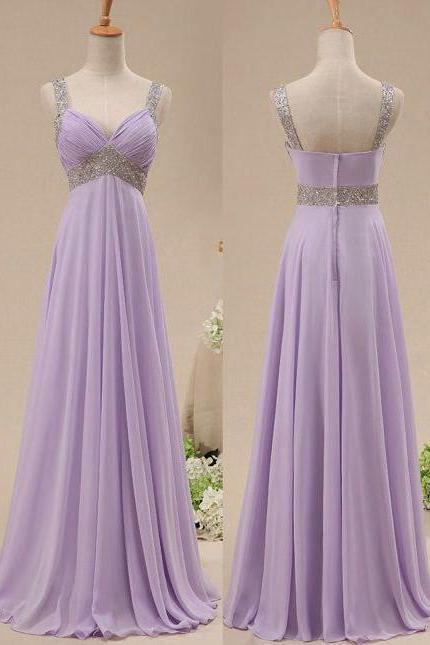prom dress,Sexy Lilac Chiffon and Beads Celebrity Prom Dresses ,cheap long sexy Prom dresses .