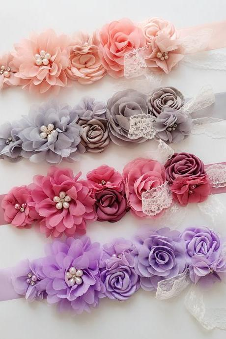 Wedding Flower girl Sash Belt Bridal Dress Rhinestone Sash Bridesmaid Flowers Belts