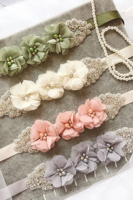 Bridesmaid and Flower Girls Sash Belt Bridal Wedding Maternity Baby Shower Sash