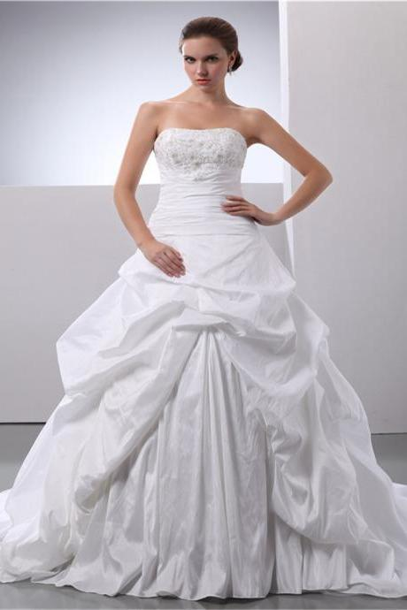 Lace tight skirt A-line satin ball gown bridal wedding dress