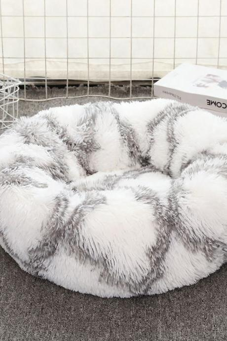 Cat litter and kennel thick plush round pet litter cat and dog mat cat bed spot