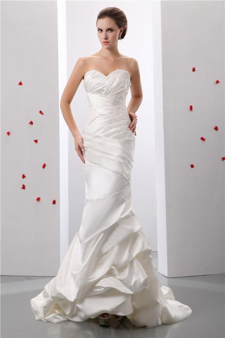 Bridal satin wedding dress mermaid wedding dress