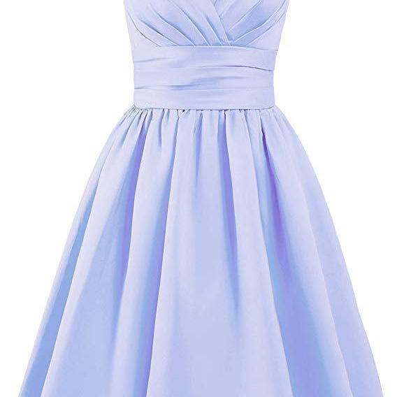 Bridesmaid Dress Short Prom Dress Satin Evening Party Dress