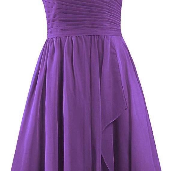 Women's Sweetheart Short Bridesmaid Dresses Chiffon Wedding Party Dress