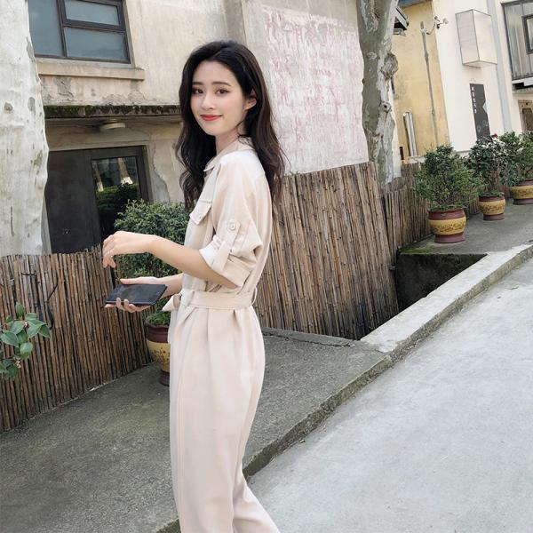 Women's jumpsuit women's suit loose high waist was thin tooling jumpsuit