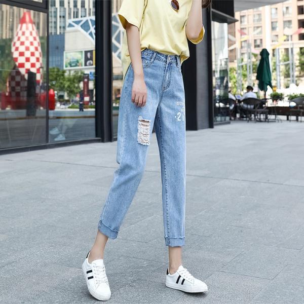 Women's Totally Shaping Pull-on Skinny Jeans Ripped jeans
