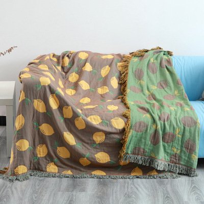 Pure cotton sofa cover cover towel four seasons universal non-slip cover cloth cover blanket Nordic simple sofa cushion
