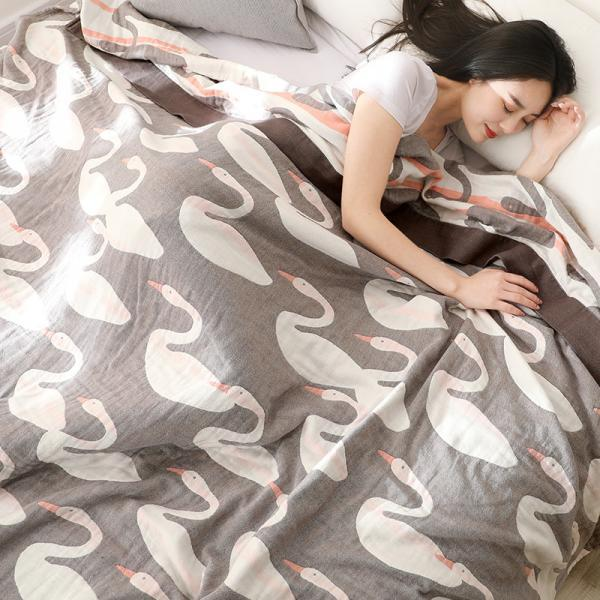 Summer cotton gauze blanket five-layer summer air-conditioning towel blanket cover quilt