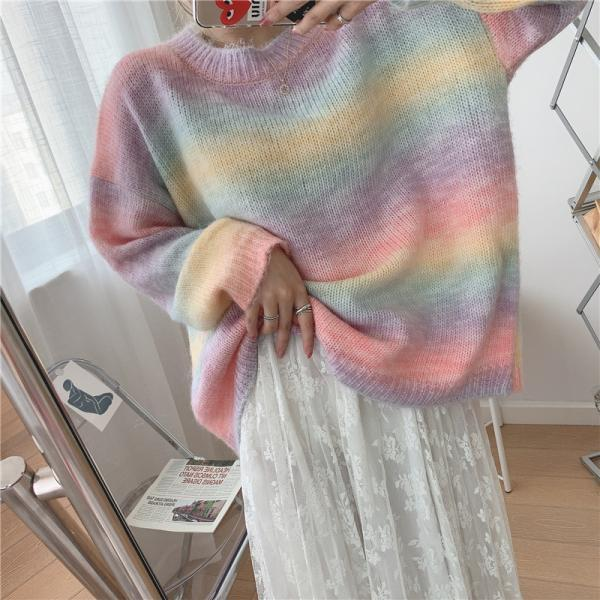 Women's Lightweight Long-Sleeve Crewneck Sweater