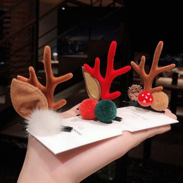 Christmas reindeer antlers headband hairpin 8Pc girl holiday beautiful headdress