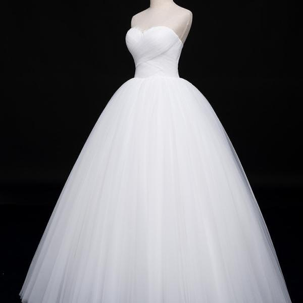Tube top wedding dress 2020 new bride simple princess dress