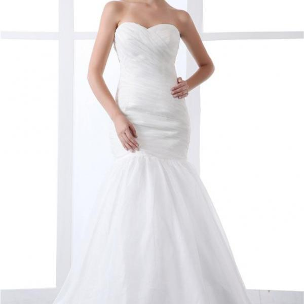 Women organza wedding dress satin bridal wedding dress