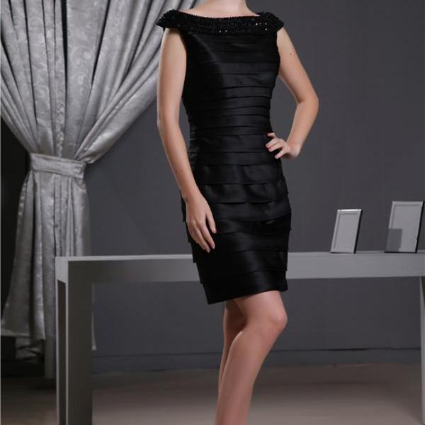 Women's mid-length dress sleeveless knee-length party evening dress