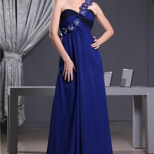 Women's formal dress flower wedding bridesmaid long dress flowing cocktail dress