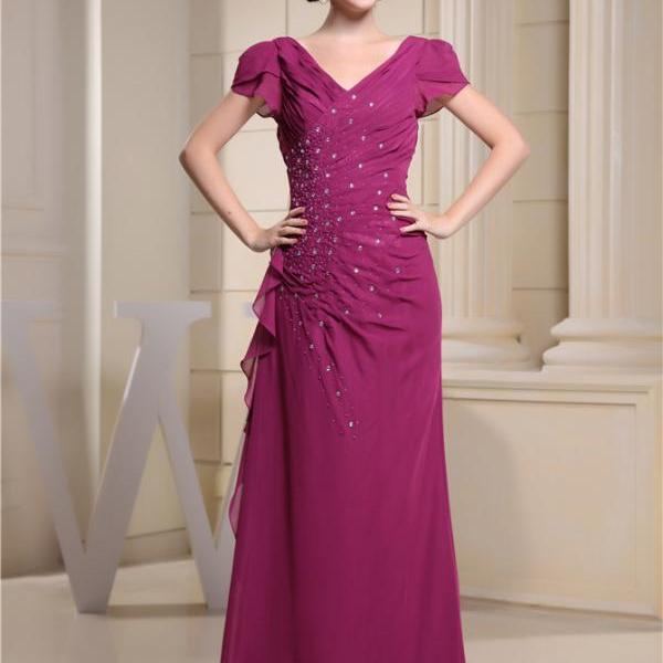 Women's chiffon ball evening dress
