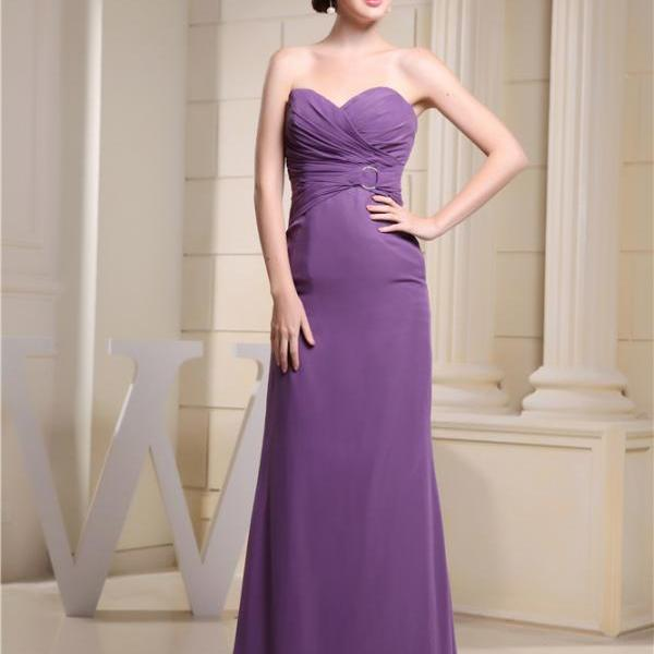 Chiffon bridesmaid dress XL formal dress party wedding party prom long