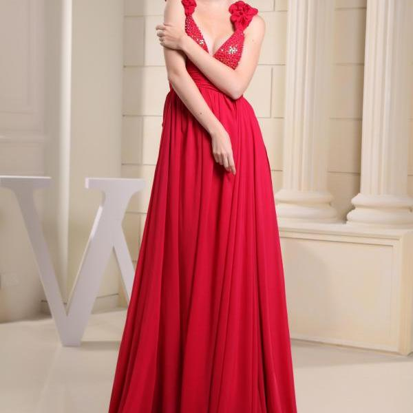 Chiffon bridesmaid dress Long formal party dress