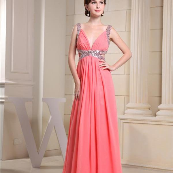 Chiffon evening dress bridesmaid dress