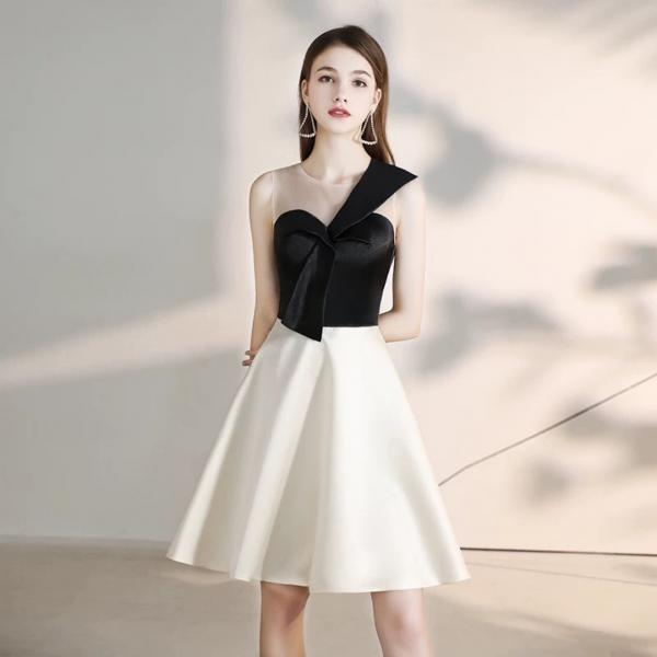 Short slim slimming bridesmaid dress annual party cocktail party dress