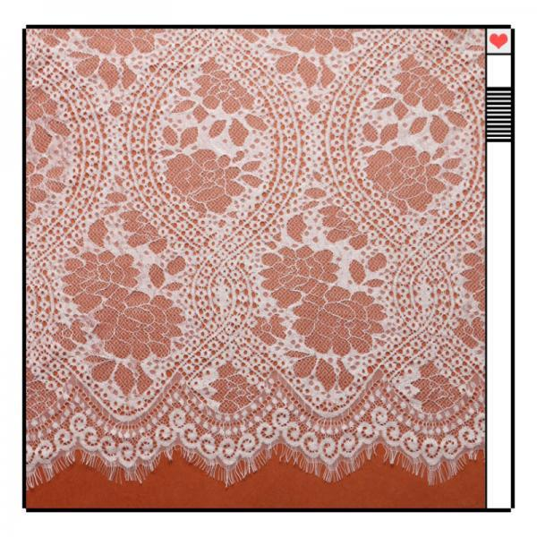 Ivory Lace Fabric Eyelash Chantilly Floral Bridal/Wedding Dress Flower African Lace Table Cloth DIY Crafts Scallop Trim Applique Ribbon Curtains 300cmx150cm