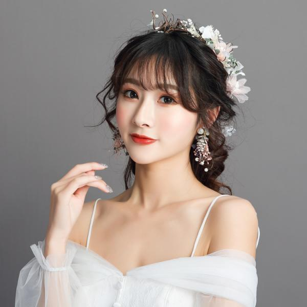 Bridal Headdress Hair Accessories Set Korean Sweet Wedding Dress Accessories